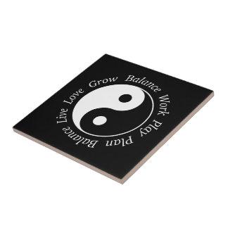 Balance Yin Yang Symbol Ceramic Tile