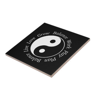 Balance Yin Yang Symbol Small Square Tile