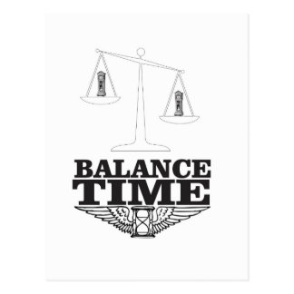 balance your time postcard