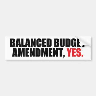 Balanced Budget Amendment Bumper Sticker