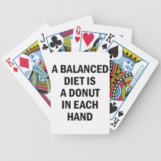 Balanced Diet Bicycle Playing Cards