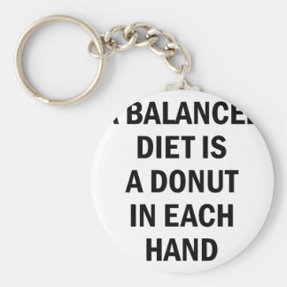 Balanced Diet Key Ring