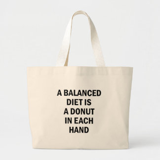 Balanced Diet Large Tote Bag