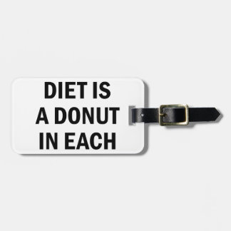 Balanced Diet Luggage Tag