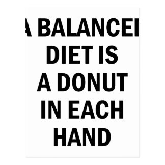 Balanced Diet Postcard
