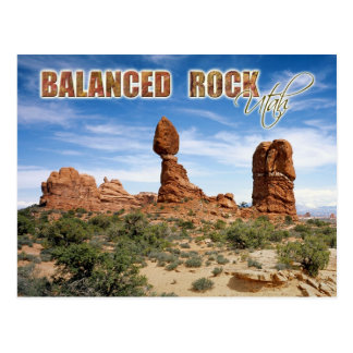 Balanced Rock, Arches National Park, Utah Postcard