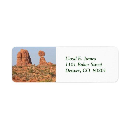 Balanced Rock Scenic Return Address Label