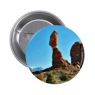 Balanced Stone At Arches National Park Pinback Button