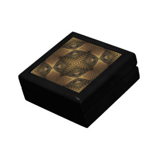 Balancing Act Gold Abstract Geometric Pattern Gift Box