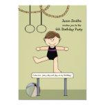 Balancing Act Gymnastics Party Invitation 13 Cm X 18 Cm Invitation Card