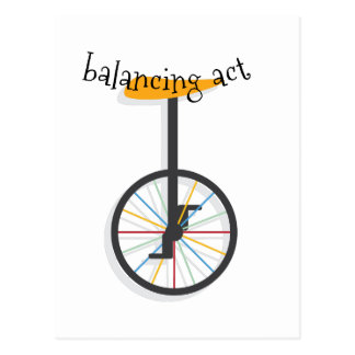 Balancing Act Postcard
