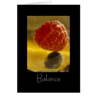 Balancing Act (with poem) Card