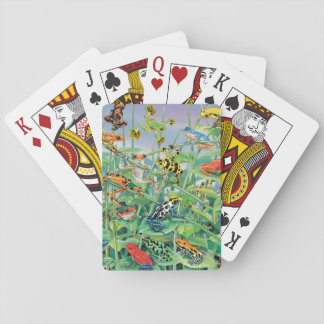Balancing Frog Playing Cards