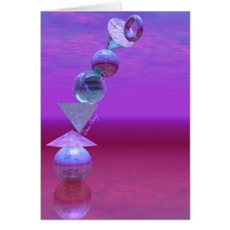 Balancing - Fuchsia and Violet Equilibrium Card