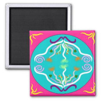 Balancing Mandala Square Magnet