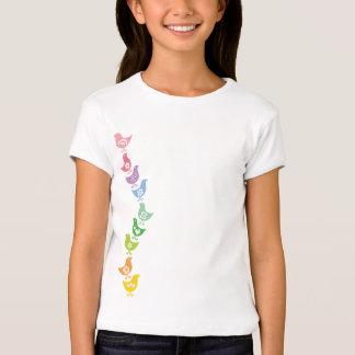 Balancing Retro Rainbow Chicks Fun Easter T-shirt