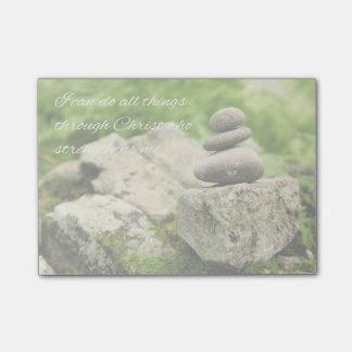 Balancing Rocks  Philippians 4:13 Post-it Notes