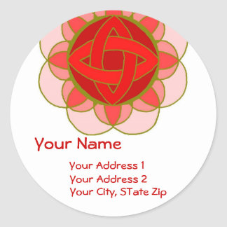 """Balancing the Root Chakra"" Address Label Round Sticker"