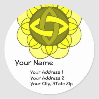 """Balancing the Solar Plexus"" Address Label Round Sticker"