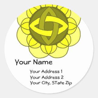 """Balancing the Solar Plexus"" Address Label Round Sticker"