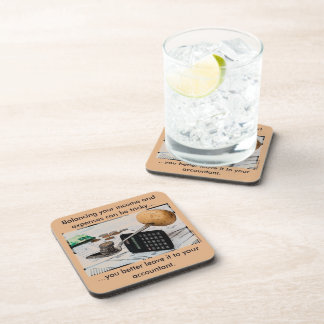 """Balancing your income and expenses can be tricky"" Coaster"