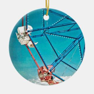 Balboa Ferris Wheel Round Ceramic Decoration