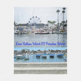 Balboa Island CA Paradise Island Fleece Blanket