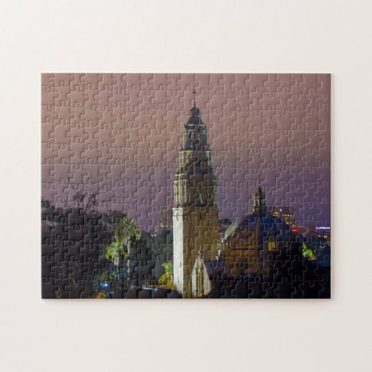 Balboa Park California Tower Dome at Dusk Jigsaw Puzzle