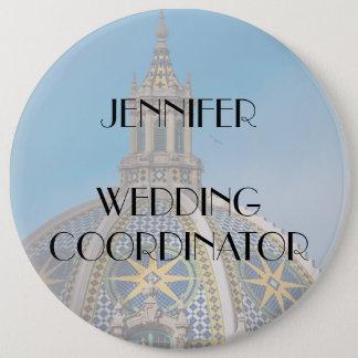 Balboa Park Mosaic Dome Wedding Coordinator 6 Cm Round Badge