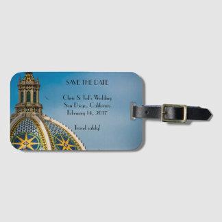 Balboa Park San Diego Dome Mosaic Save the Date Luggage Tag
