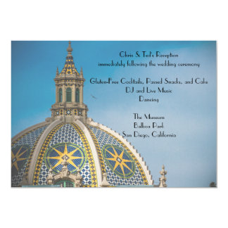 Balboa Park San Diego Mosaic Dome 3 Reception Card