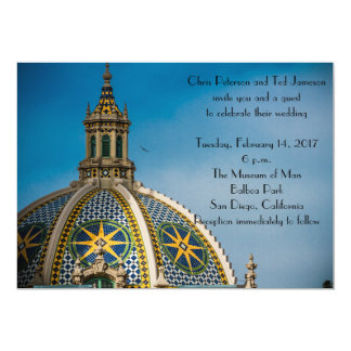 Balboa Park San Diego Mosaic Dome Wedding 13 Cm X 18 Cm Invitation Card