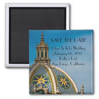 Balboa Park San Diego Mosaic Dome Wedding Magnet