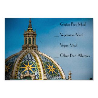 Balboa Park San Diego Mosaic RSVP Food AllergyCard Card