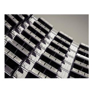 Balconies pattern postcard