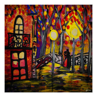 Balcony at Night Value Poster Paper (Matte)
