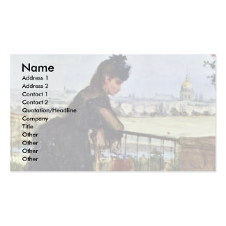 Balcony By Morisot Berthe Business Card Template