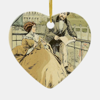 Balcony in Rue de Rivoli 1864 Ceramic Heart Decoration