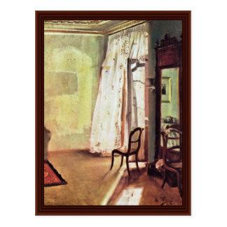 Balcony Room By Menzel Adolph Von Postcard