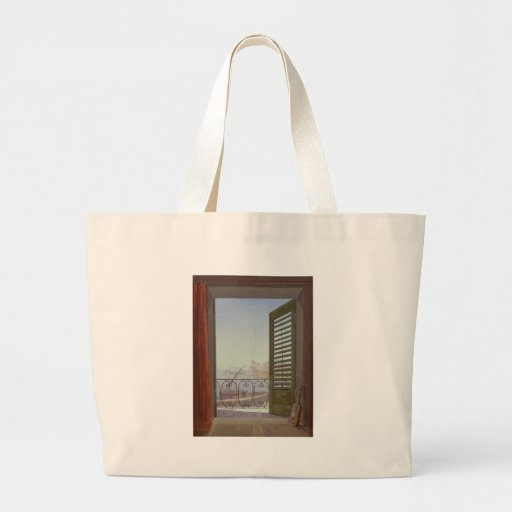 Balcony Room with a View of the Bay of Naples Canvas Bag