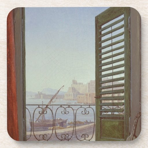 Balcony Room with a View of the Bay of Naples Drink Coasters