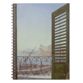 Balcony Room with a View of the Bay of Naples Note Book