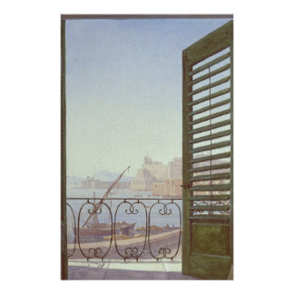 Balcony Room with a View of the Bay of Naples Personalized Stationery