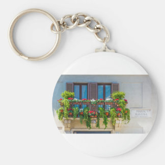 balcuny in piazza navona basic round button key ring