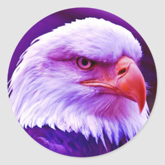 Bald American Eagle Classic Round Sticker