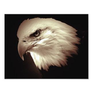"Bald American Eagle Eye Invites 4.25"" X 5.5"" Invitation Card"