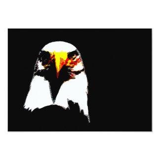 "Bald American Eagle Invitation - Eagle Invites 5"" X 7"" Invitation Card"
