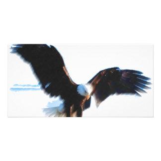 Bald American Eagle Landing Photo Card
