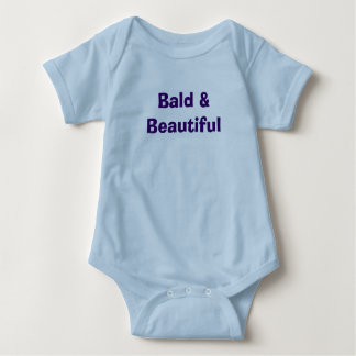 """Bald & Beautiful Baby Bodysuit"