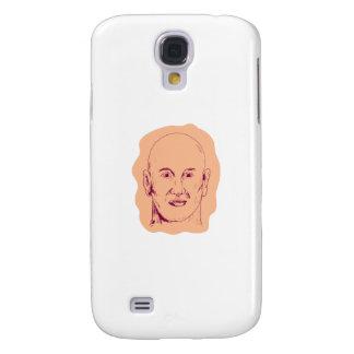 Bald Caucasian Male Head Drawing Samsung Galaxy S4 Cover